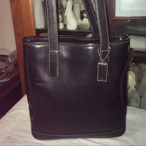 Coach Leather Hampton Tote Shoulder Bag